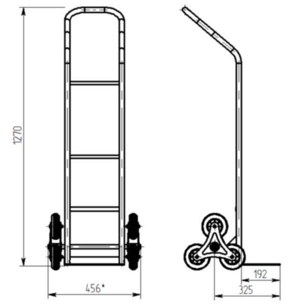 Чертеж грузовой лестничной