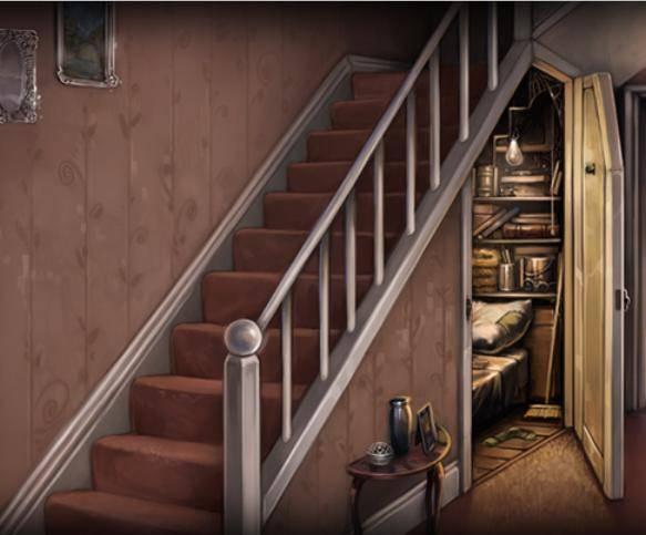 Чулан под лестницей.