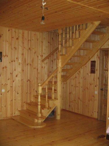 Фото – готовая лестница.