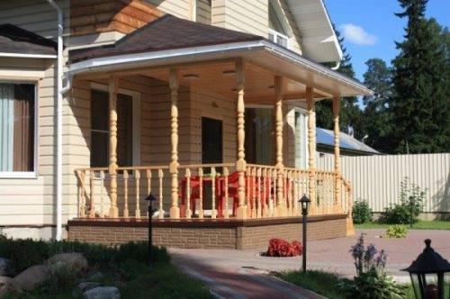 Открытое крыльцо к дому проекты