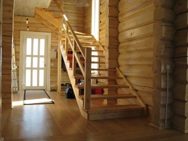 Фото лестницы на косоурах в частном доме