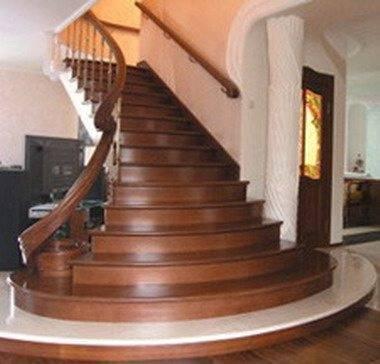 Размеры лестницы в плане