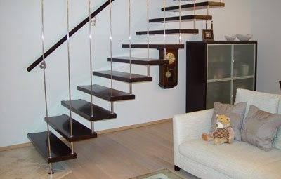 Фото варианта подвесной лестницы.