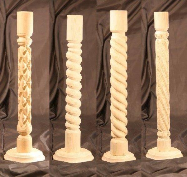 Резные столбы из дерева своими руками