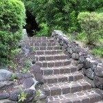 Каменная лестница для сада
