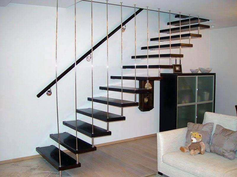 Если для устройства лестницы используются балясины из другого материала (например...