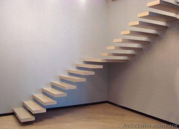 Лестница без подвесной системы и заграждения