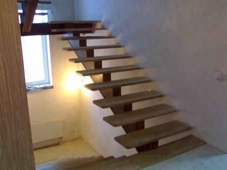 Лестница из дуба без перил