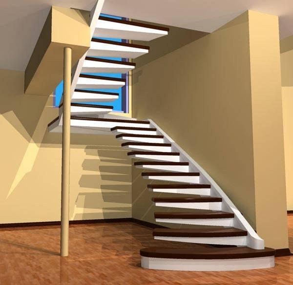 Лестница на второй этаж в частном доме может быть не только функциональной, но и красивой.