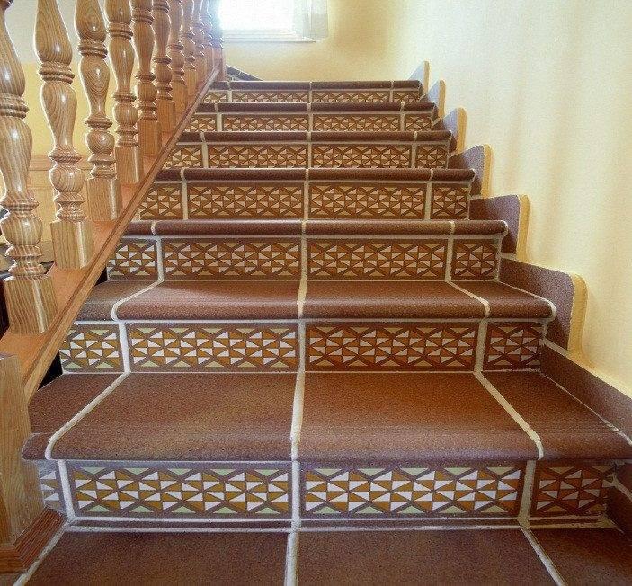 Лестницы из керамогранита фото