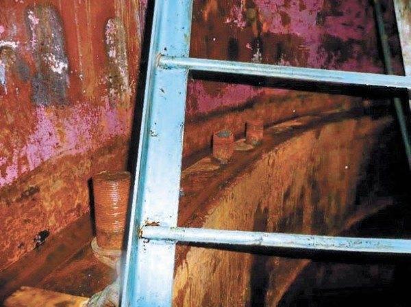 Металлическая лестница из гладкой арматуры