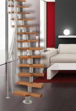 Модульная конструкция лестницы.