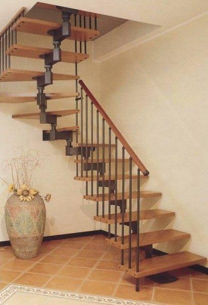 Модульные лестницы особенно популярны в современных частных домах.