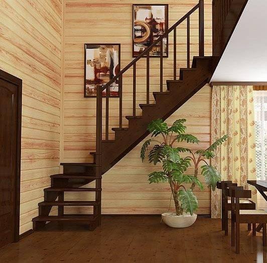 На фото – оформление лестницы.