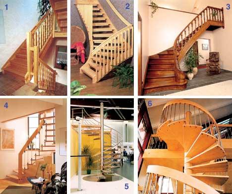Некоторые виды лестниц