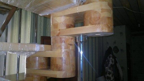 Образец модуля деревянной лестницы
