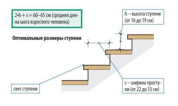 Оптимальные размеры ступеней на линии движения