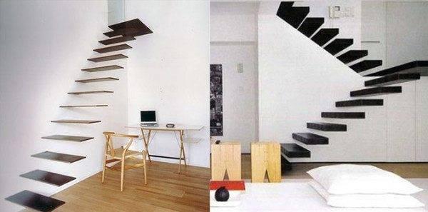 Оригинальное и стильное решение – невесомая лестница