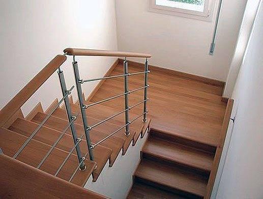 П-образная лестница с площадкой.