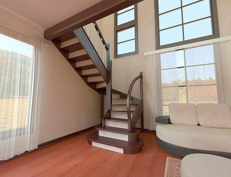 Лестница п образная с площадкой своими руками