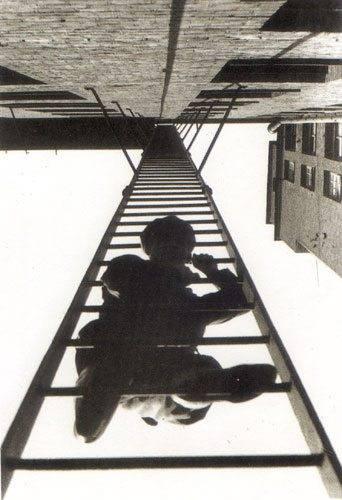 Пожарная лестница. Неизвестный архитектор середины 20 века.
