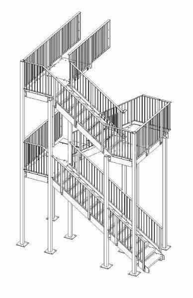 Пожарная лестница тип П2