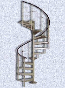 Пример сборной типовой конструкции – винтовая металлическая лестница Каскад