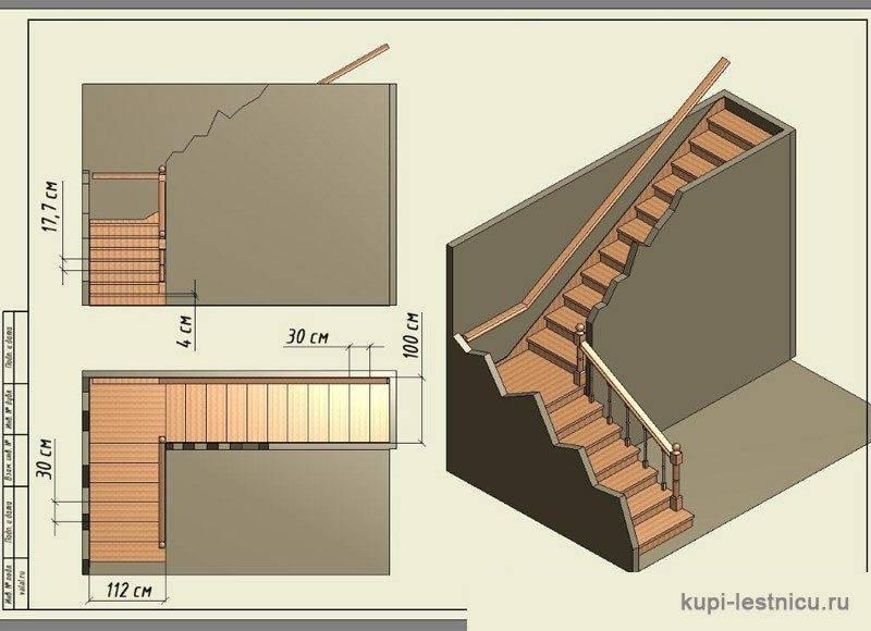 Угловые лестницы