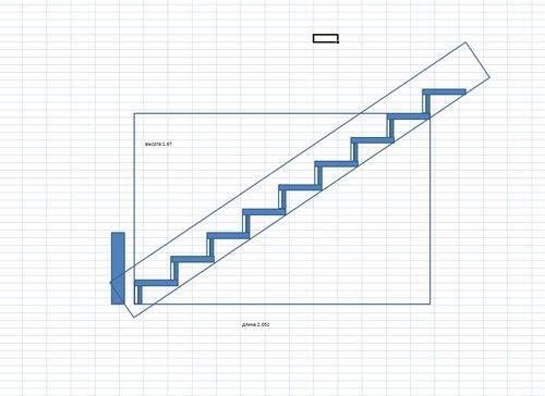 Примерный эскиз лестницы