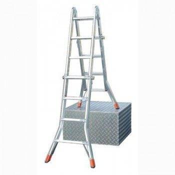 Профессиональные лестницы являются универсальными и удобными в работе даже на неровном основании.