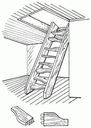 Простая конструкция чердачной лестницы.