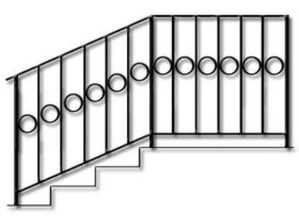 Простейший эскиз металлического ограждения