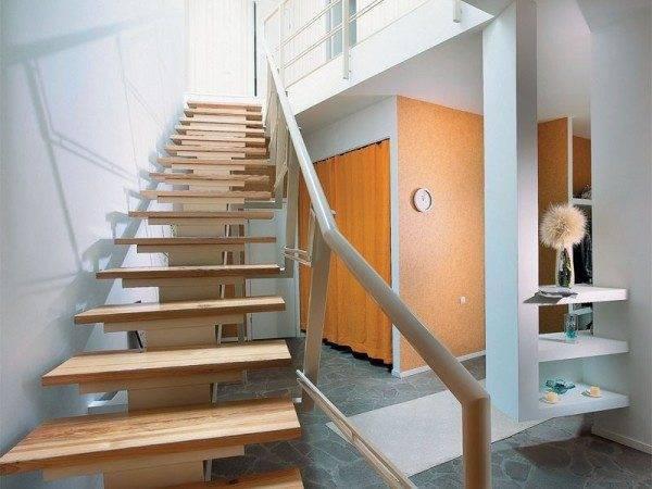 Прямые лестницы представляются наиболее надежными, комфортными и безопасными.