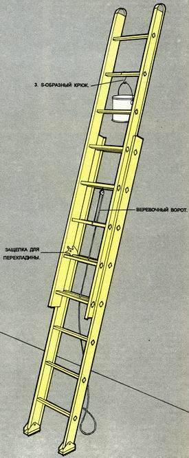 Выдвигающаяся лестница своими руками