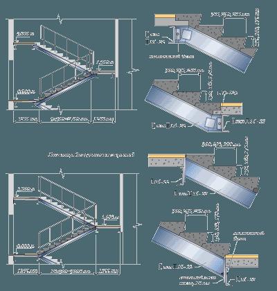 Сборная лестница по металлическим косоурам. Варианты