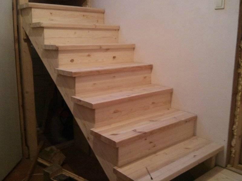 Лестница прямая своими руками пошаговая инструкция