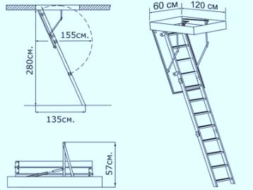 Схема лестницы Termo Oman