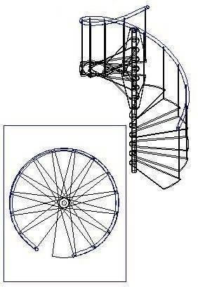 Схема сборки винтовой лестницы