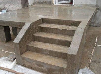 Ступеньки своими руками из бетона