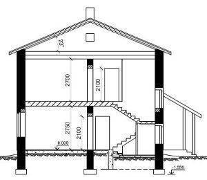 Такое схематическое изображение дает представление о внутреннем устройстве дома