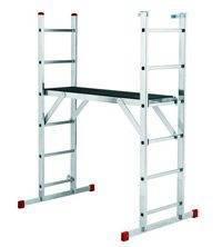Трехсекционная лестница для проведения монтажных и строительных работ.