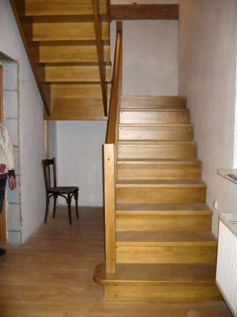 Двухмаршевая лестница деревянная своими руками