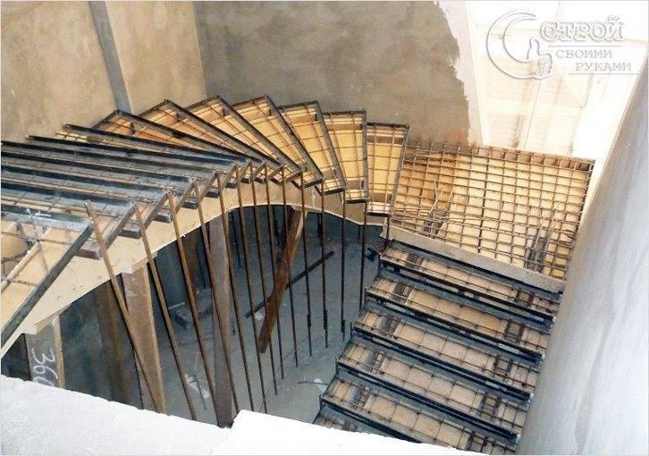 Как построить бетонный лестницу своими руками