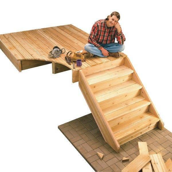 Картинки по запросу деревянная лестница своими руками