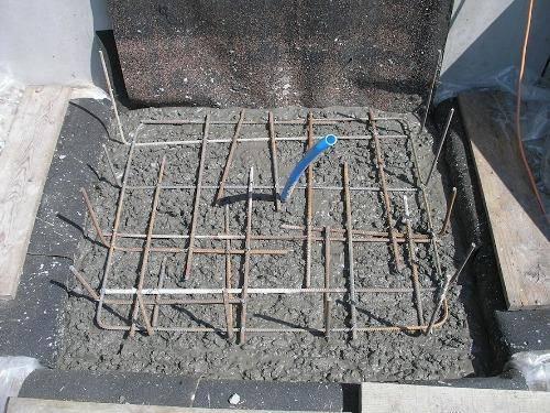 Заливка плитного фундамента