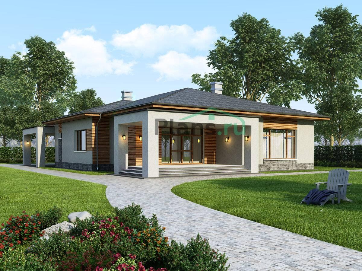 Проект одноэтажных домов с верандой фото