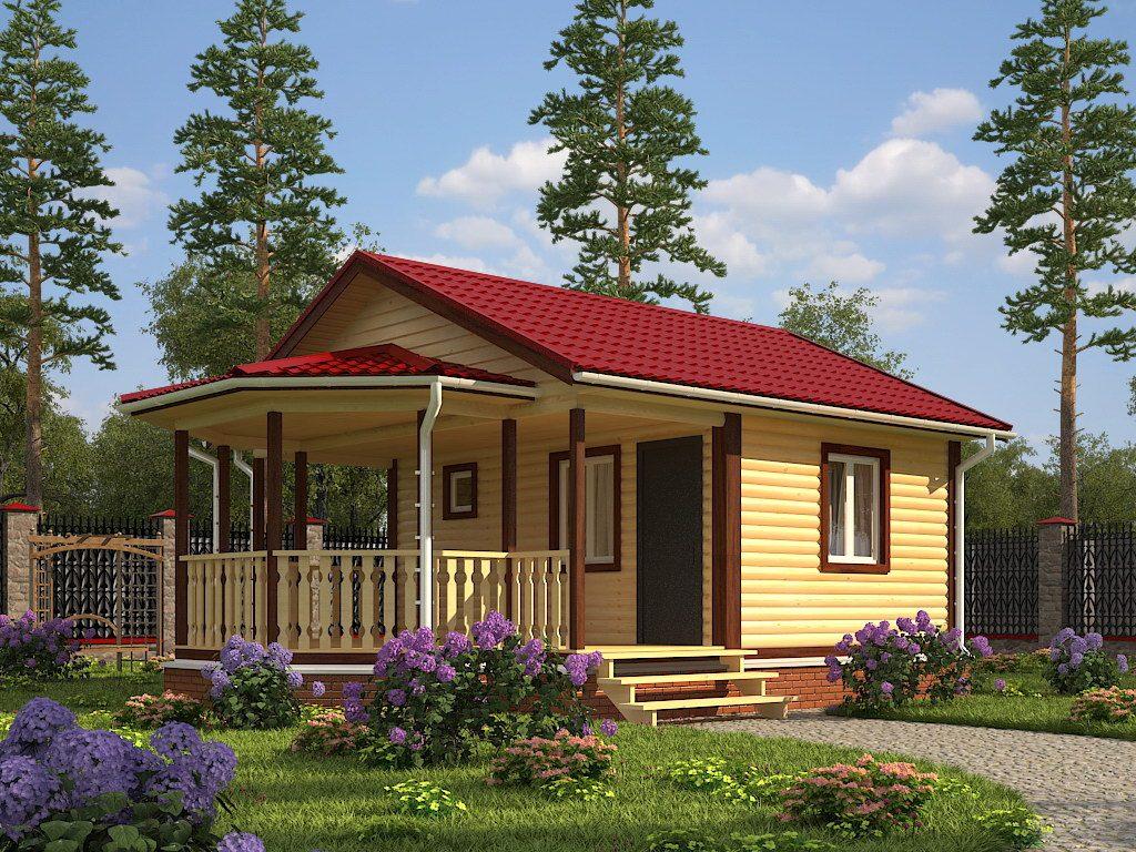 домик с беседкой под одной крышей фото