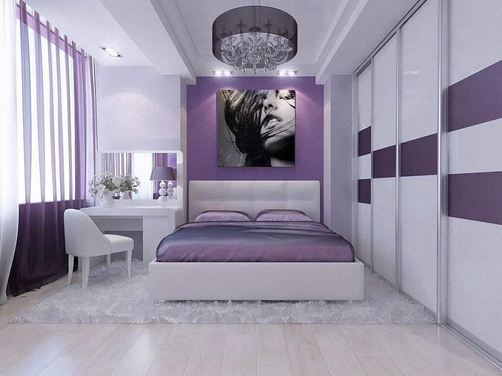 Картинки спальни в фиолетовых тонах