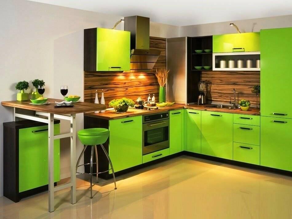 Яркая и неповторимая кухня в цвете лайм: создаем интересный интерьер