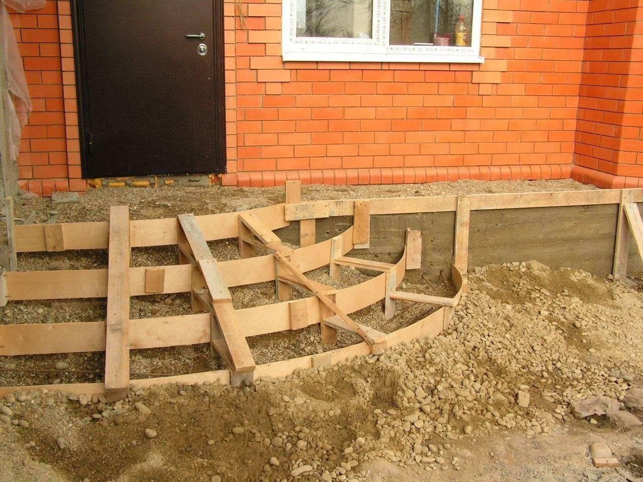 Делаем крыльцо из бетона своими руками